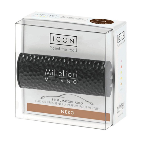 Vůně do auta Millefiori Milano Icon, Metallo/Nero, černá