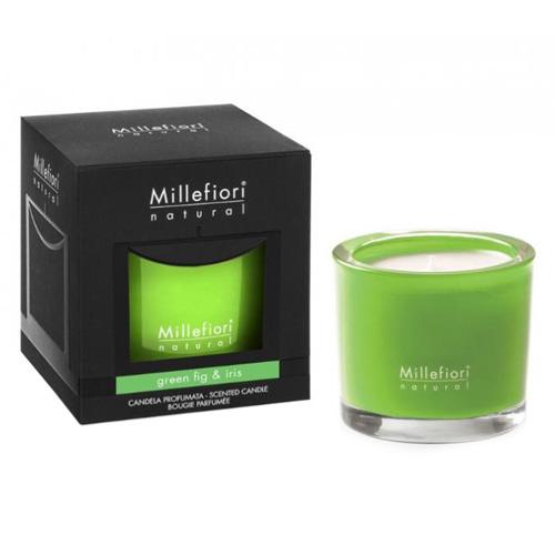 Vonná svíčka Millefiori Milano Zelený fík a kosatec, Natural, 180 g