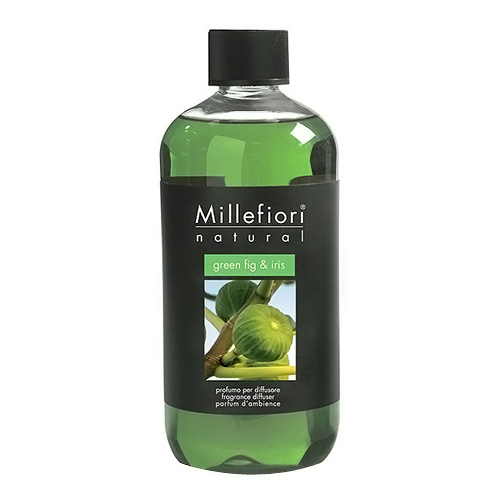 Náplň do difuzéru Millefiori Milano Natural, 500ml/Zelený fík a kosatec