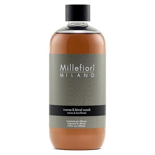 Náplň do difuzéru Millefiori Milano Natural, 500ml/Kadidlo a světlá dřeva