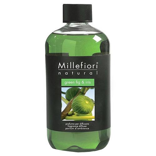 Náplň do difuzéru Millefiori Milano Natural, 250ml/Zelený fík a kosatec