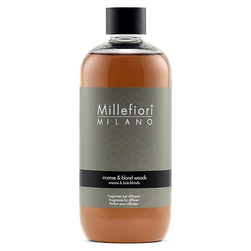 Náplň do difuzéru Millefiori Milano Natural, 250ml/Kadidlo a světlá dřeva