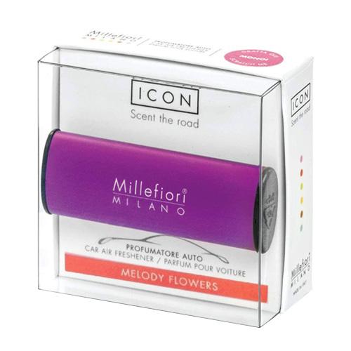 Vůně do auta Millefiori Milano Icon, Classic/Akordy květin, fialová