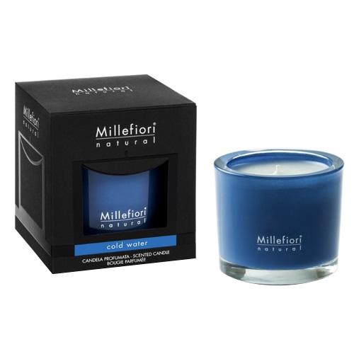 Vonná svíčka Millefiori Milano Chladná voda, Natural, 180 g