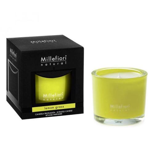 Vonná svíčka Millefiori Milano Citrónová tráva, Natural, 180 g