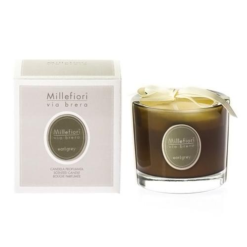 Vonná svíčka Millefiori Milano Earl Grey, Via Brera, 180 g
