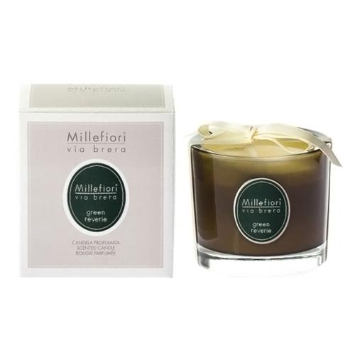Vonná svíčka Millefiori Milano Zelené snění, Via Brera, 180 g