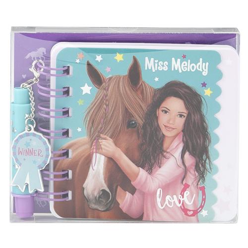 Spirálový bloček Miss Melody ASST Love, s mini propiskou