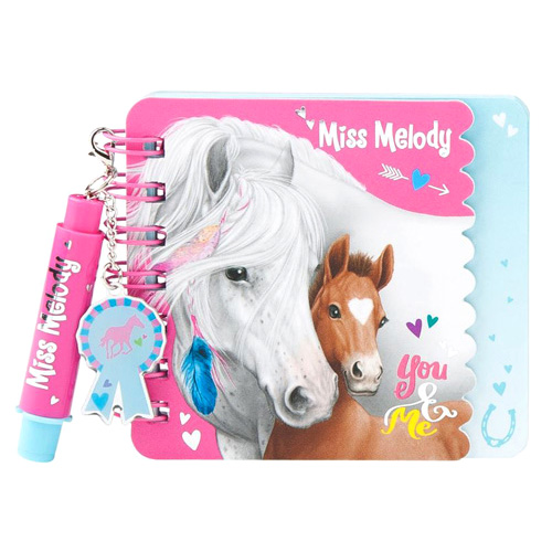 Spirálový bloček Miss Melody ASST You & Me, s mini propiskou