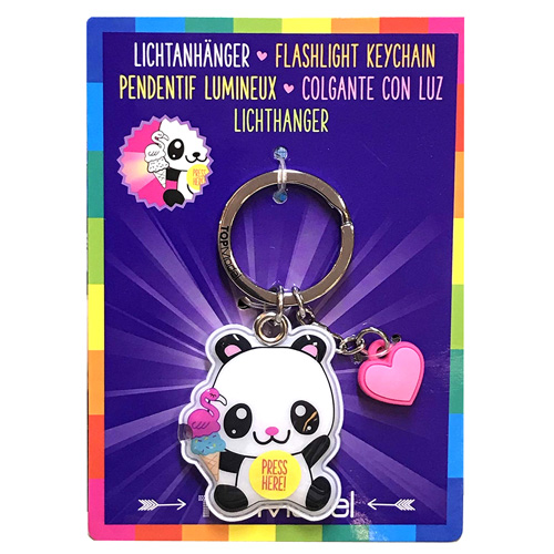 Přívěsek na klíče Top Model ASST Panda, svítící
