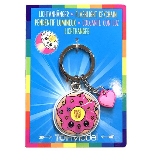Přívěsek na klíče Top Model ASST Donut, svítící