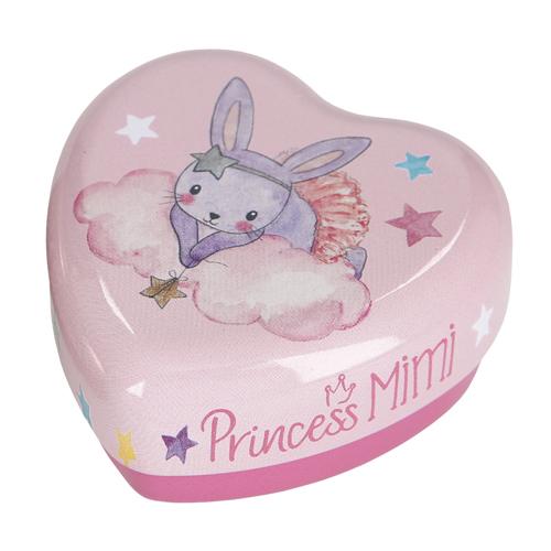 Šperkovnice Princess Mimi ASST Růžová s králíčkem, plechová