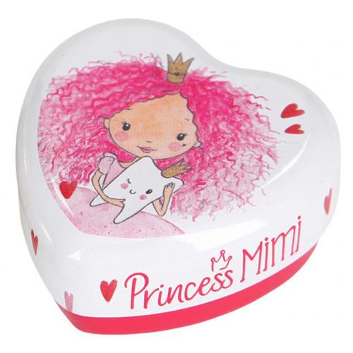Šperkovnice Princess Mimi ASST Bílá s princeznou, plechová