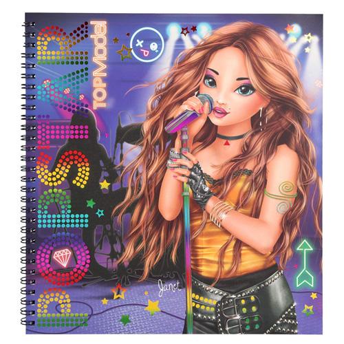 Omalovánky, kreativní sada Top Model Janet, PopStar