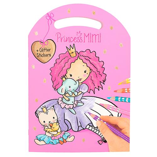 Omalovánky Princess Mimi Princezna Mimi a přátelé, se samolepkami