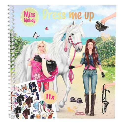 Kreativní sešit Miss Melody Sienna a Miss Melody, 11 archů samolepek