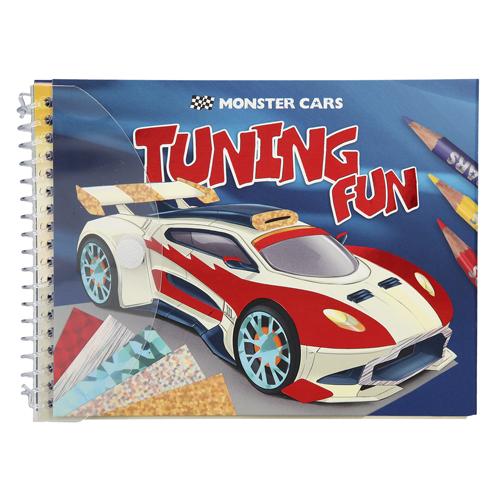 Omalovánky, kreativní sada Monster Cars Tuning Fun, třpytivé fólie