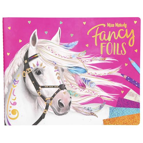 Omalovánky, kreativní sada Miss Melody Fancy Foils, třpytivé fólie