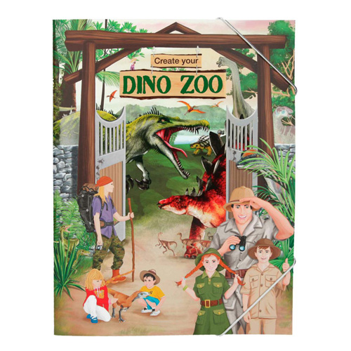 Kreativní sešit Create Your Dinosauří zoo, se samolepkami