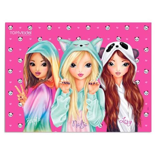 3D podložka na stůl Top Model Fergie, Nadja a Lexy, růžová