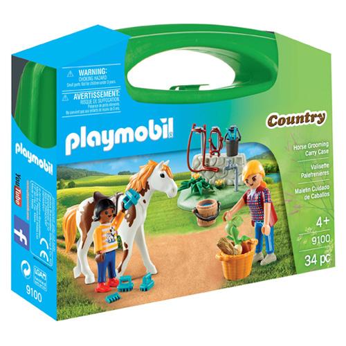 Péče o koně Playmobil Jezdecký dvůr, 34 dílků