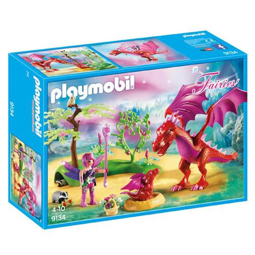 Drak s mládětem Playmobil Víly a jednorožci, 53 dílků