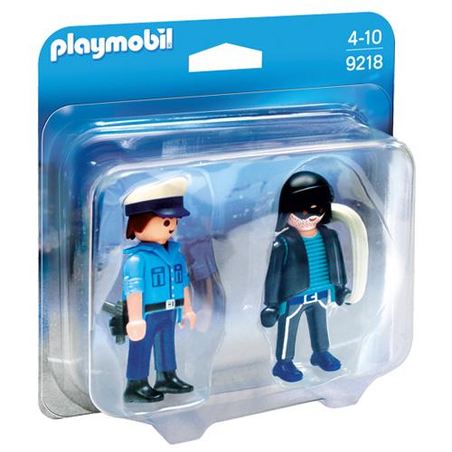 Duo Pack Policista a zloděj Playmobil Policie, 7 dílků