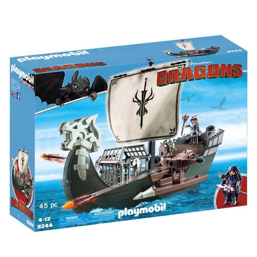 Dragova loď Playmobil Jak vycvičit draka, 45 dílků