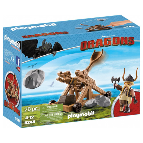 Tlamoun s katapultem Playmobil Jak vycvičit draka, 28 dílků