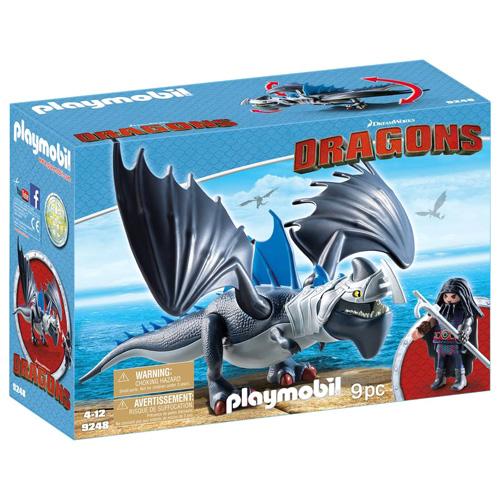 Drago s obrněným drakem Playmobil Jak vycvičit draka, 9 dílků