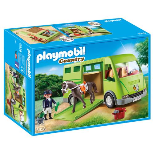Kamión pro přepravu koně Playmobil Jezdecký dvůr, 40 dílků