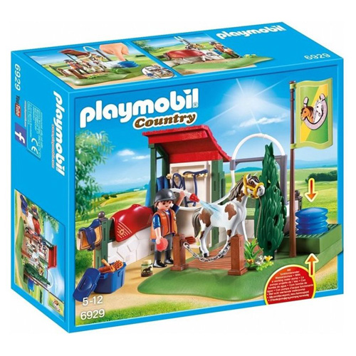 Mycí box pro koně Playmobil Jezdecký dvůr, 40 dílků