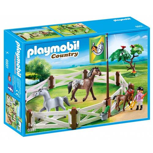 Výběh pro koně Playmobil Jezdecký dvůr, 40 dílků