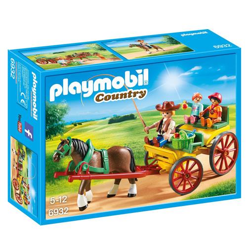Koňský kočár Playmobil Jezdecký dvůr, 25 dílků