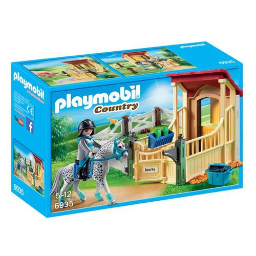 Box pro koně Appaloosa Playmobil Jezdecký dvůr, 50 dílků