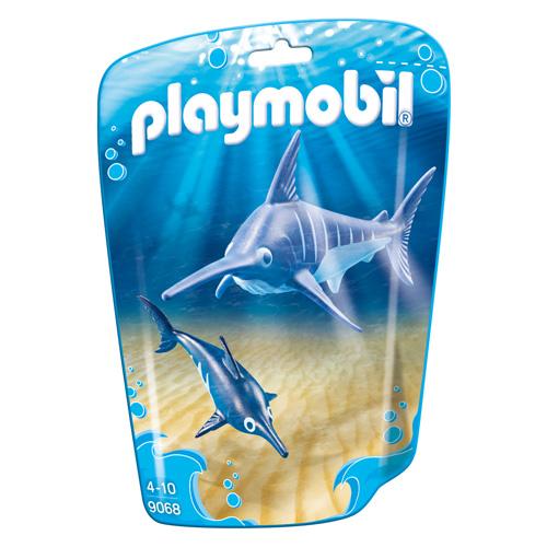 Mečoun s mládětem Playmobil Mořské akvárium, 2 dílků