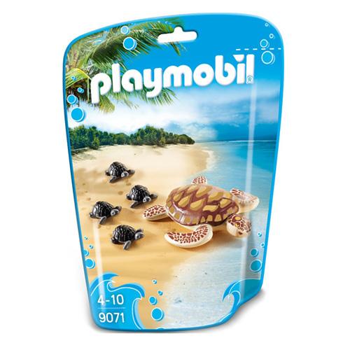 Vodní želva s mláďaty Playmobil Mořské akvárium, 5 dílků