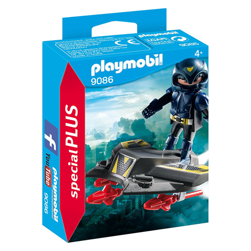 Sky Knight a hoverboard Playmobil TOP agenti, 150 dílků