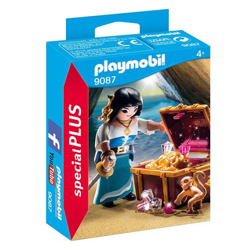 Pirátka s truhlou pokladů Playmobil Piráti, 15 dílků