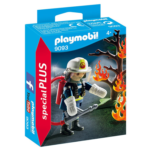Hasič a hořící strom Playmobil Hasiči, 15 dílků