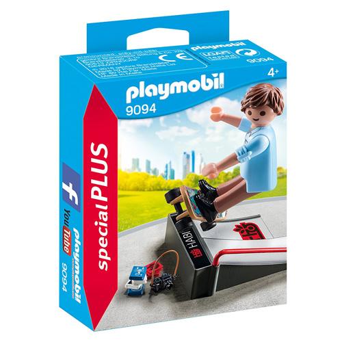 Skateboardista s rampou Playmobil Sport a akce, 15 dílků