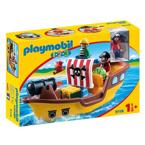 Pirátská loď Playmobil 1.2.3, 10 dílků