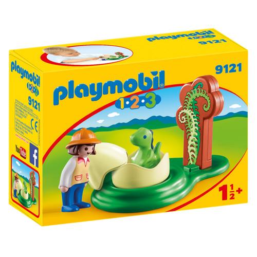 Dinosauří vejce Playmobil 1.2.3, 6 dílků