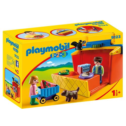 Přenosný stánek Playmobil 1.2.3, 10 dílků