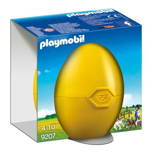 Zvěrolékařka s hříbaty Playmobil Žluté vajíčko, 15 dílků