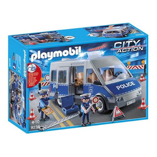 Policejní anton se zátarasy Playmobil Policie, 78 dílků