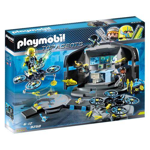 Řídící středisko Dr. Dronea Playmobil TOP agenti, 100 dílků
