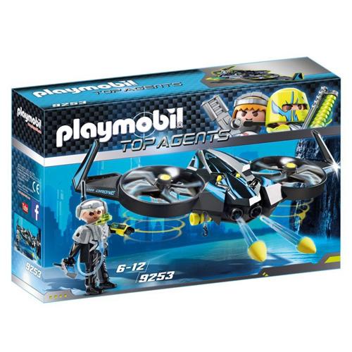 Mega drone Playmobil TOP agenti, 50 dílků
