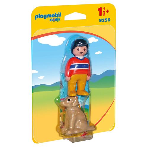 Muž se psem Playmobil 1.2.3, 2 ks