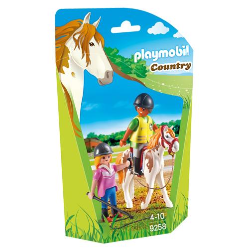 Učitelka jízdy na koni Playmobil Jezdecký dvůr, 5 dílků